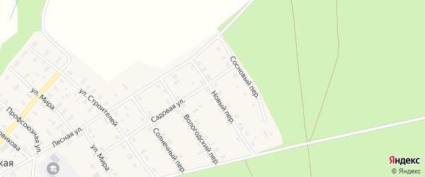 Новый переулок на карте Никифоровской деревни с номерами домов