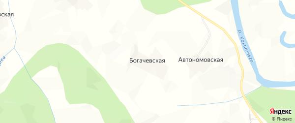 Карта Автономовской деревни в Архангельской области с улицами и номерами домов