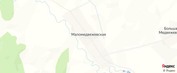 Карта Маломедвежевской деревни в Архангельской области с улицами и номерами домов