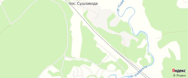 Карта казармы 880-881 км в Архангельской области с улицами и номерами домов