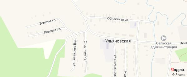 Юбилейная улица на карте Ульяновской деревни с номерами домов