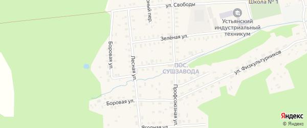 Дачная улица на карте поселка Студенца с номерами домов