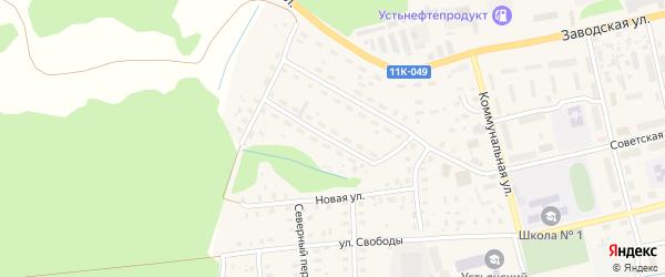 Кооперативная улица на карте Октябрьского поселка с номерами домов