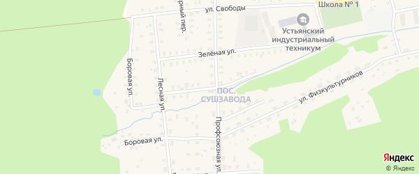 Дачная улица на карте Октябрьского поселка с номерами домов