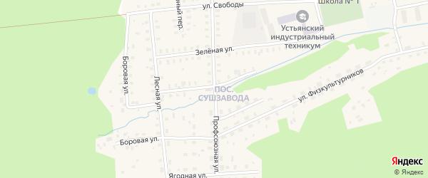 Профсоюзная улица на карте Октябрьского поселка с номерами домов