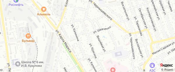 Улица Красина на карте Балашова с номерами домов