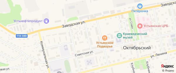 Шангальский переулок на карте Октябрьского поселка с номерами домов