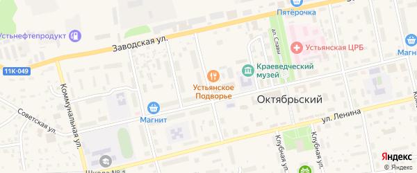 Школьная улица на карте Октябрьского поселка с номерами домов