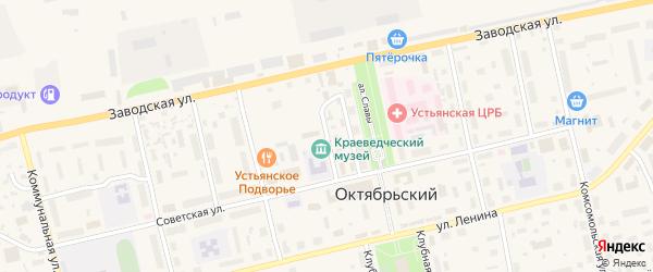 Улица Конанова на карте Октябрьского поселка с номерами домов