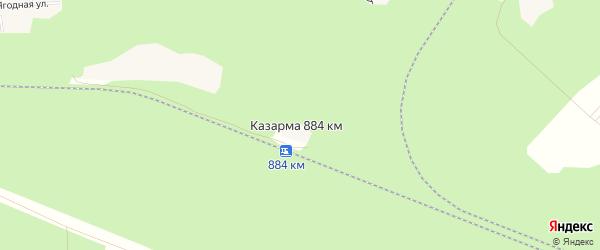 Карта казармы 884 км в Архангельской области с улицами и номерами домов