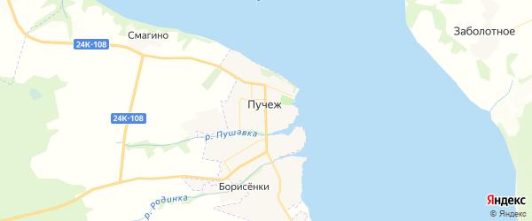 Карта Пучежа с районами, улицами и номерами домов
