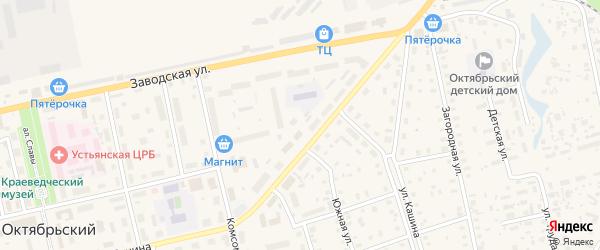 Северный переулок на карте Октябрьского поселка с номерами домов
