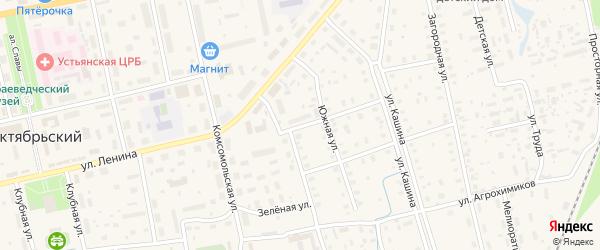 Пролетарская улица на карте Октябрьского поселка с номерами домов