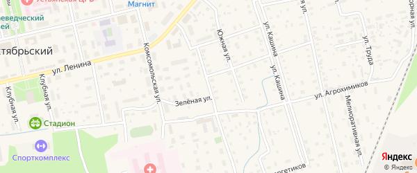 Спортивная улица на карте Октябрьского поселка с номерами домов