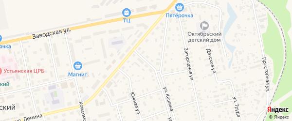 Улица 60 лет СССР на карте Октябрьского поселка с номерами домов