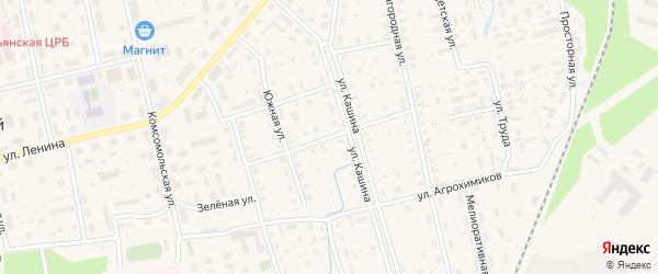Колхозная улица на карте Октябрьского поселка с номерами домов