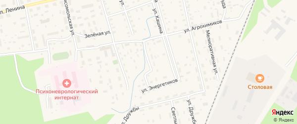 Заручейный переулок на карте Октябрьского поселка с номерами домов