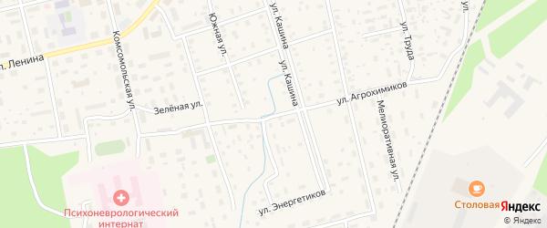 Улица Агрохимиков на карте Октябрьского поселка с номерами домов