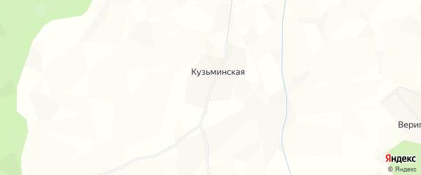 Карта Кезоминской деревни в Архангельской области с улицами и номерами домов