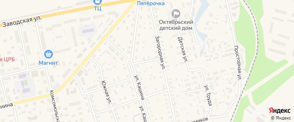 Безымянный переулок на карте Октябрьского поселка с номерами домов