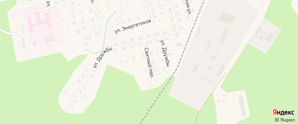 Светлый переулок на карте Октябрьского поселка с номерами домов