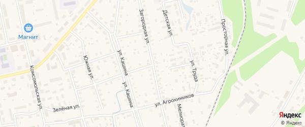 Загородная улица на карте Октябрьского поселка с номерами домов