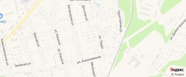 Дальний переулок на карте Октябрьского поселка с номерами домов