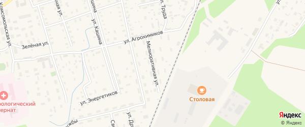 Мелиоративная улица на карте Октябрьского поселка с номерами домов