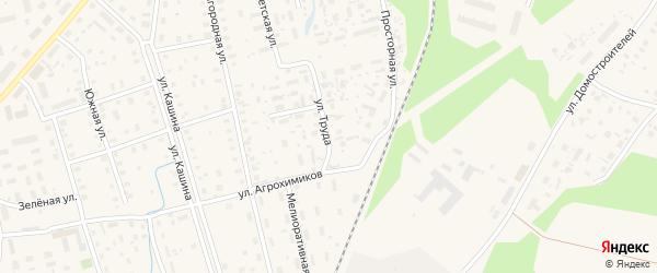 Улица Труда на карте Октябрьского поселка с номерами домов