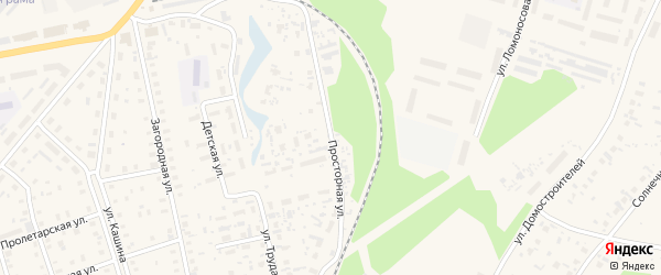 Просторная улица на карте Октябрьского поселка с номерами домов