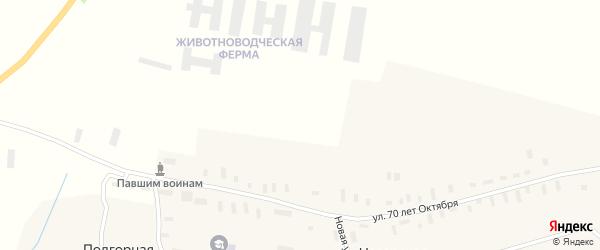Комсомольская улица на карте Нагорской деревни с номерами домов