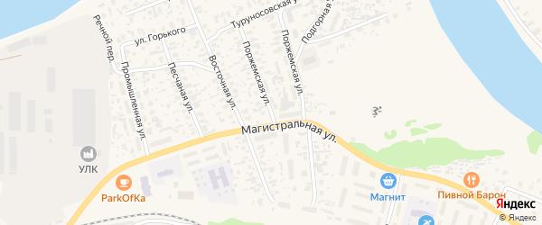Поржемская улица на карте Октябрьского поселка с номерами домов