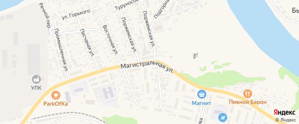 Магистральная улица на карте Октябрьского поселка с номерами домов