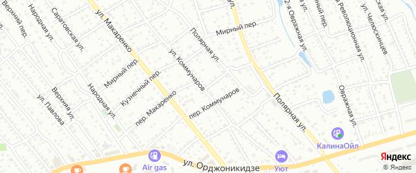 Переулок Макаренко на карте Балашова с номерами домов
