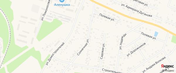 Солнечная улица на карте Октябрьского поселка с номерами домов