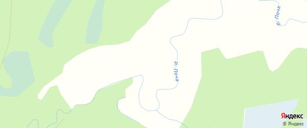 Карта Сергеевской деревни в Архангельской области с улицами и номерами домов