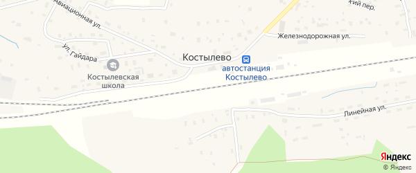 Кольцевой переулок на карте поселка Костылево с номерами домов