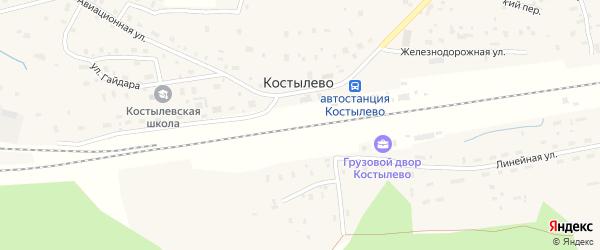 Милицейская улица на карте деревни Костылево с номерами домов