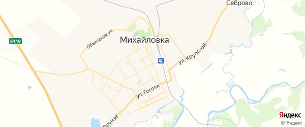 Карта Михайловки с районами, улицами и номерами домов
