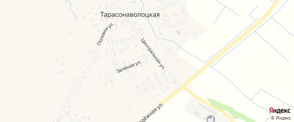 Улица Полины Порошиной на карте Тарасонаволоцкой деревни с номерами домов