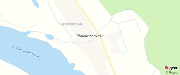 Карта Моршихинской деревни в Архангельской области с улицами и номерами домов