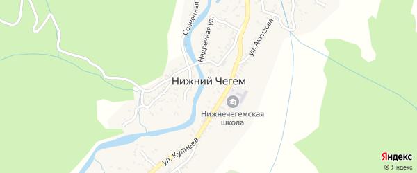 Олимпийская улица на карте Чегема с номерами домов