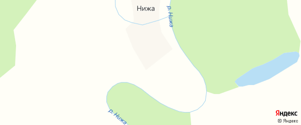 Поморская улица на карте деревни Нижи с номерами домов