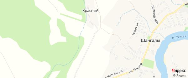 Карта Красного хутора в Архангельской области с улицами и номерами домов