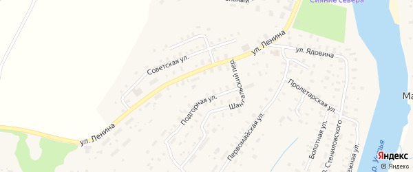 Пролетарская улица на карте села Шангалы с номерами домов