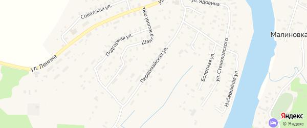 Первомайская улица на карте села Шангалы с номерами домов