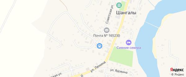 Улица Розы Шаниной на карте села Шангалы с номерами домов