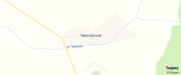 Карта Черновской деревни в Архангельской области с улицами и номерами домов