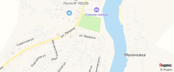 Улица Ядовина на карте села Шангалы с номерами домов