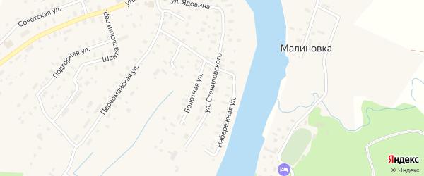 Улица Стениловского на карте села Шангалы с номерами домов